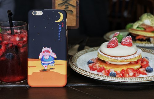 [Blowing Cloud] original pattern food generation series - Halogen piglet mobile phone shell ultra-fine handle hard shell fruit 6 fruit 7 fruit 8