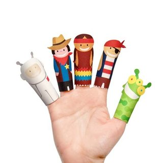 [] Pukaca hand-made educational toys finger doll series - Superheroes