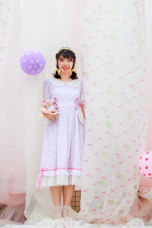 White Butterfly Heart Dress (Heart Sugar) Series [Witch Cat * Rita Handmade]