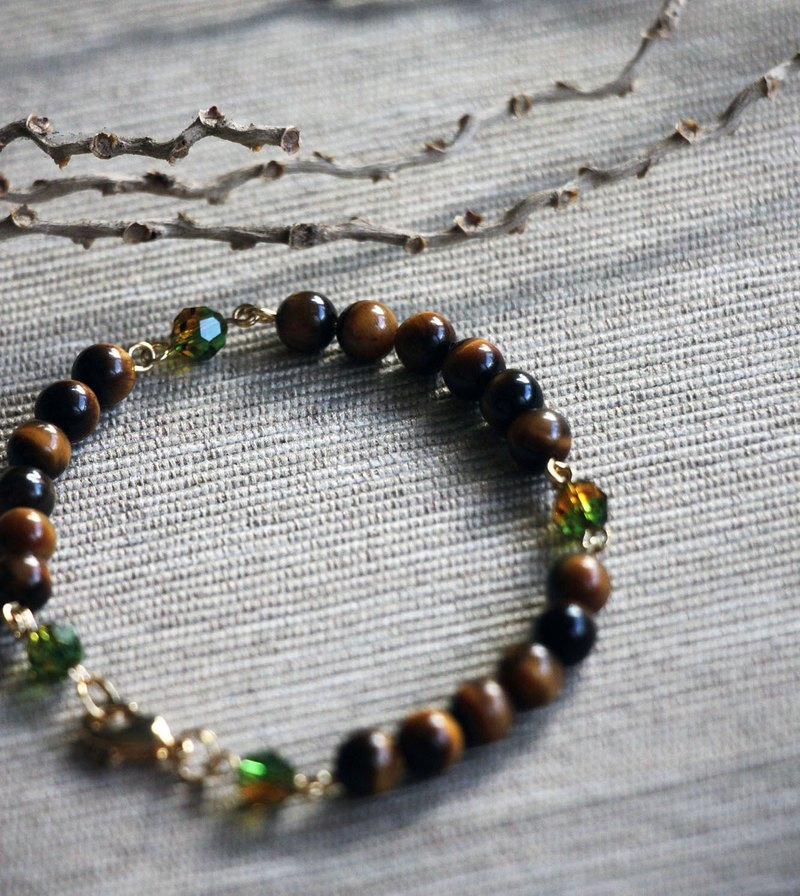 Tiger eye crystal bracelet