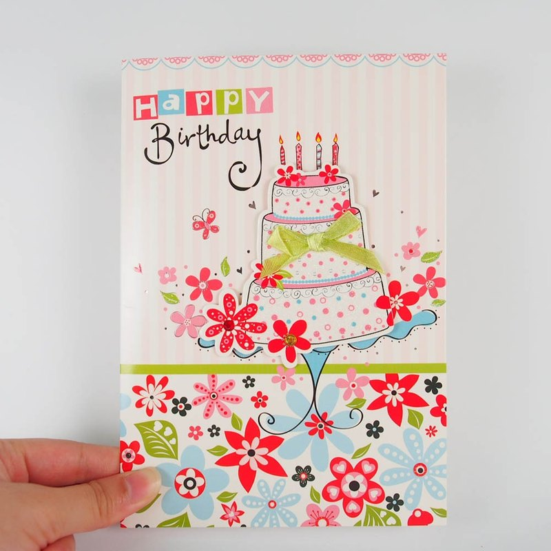 Send cake handmade cards blessings [FS]