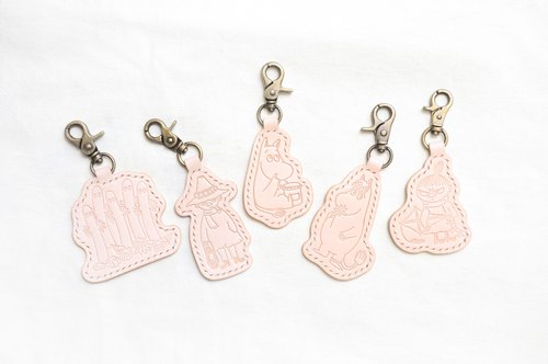 MOOMIN x Hong Kong-made leather mum key ring color material package officially authorized glutinous rice