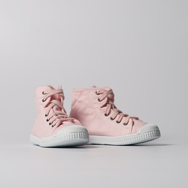 Spanish canvas shoes high tube pale pink scented shoes 61997 41