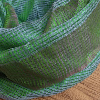 【Grooving the beats】Wild Silk Hand Woven Stole / Shawl / Scarf / Wrap(Green)
