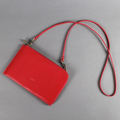 Passion handbag lovable red hand / shoulder / oblique back