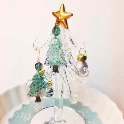 [Atelier A.] Christmas Selected Shiny Christmas Tree Earrings