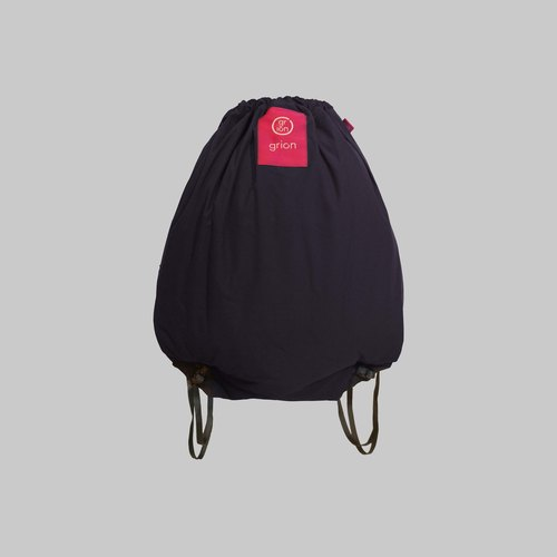 grion waterproof bag - back section (M) dark blue cloth flocking