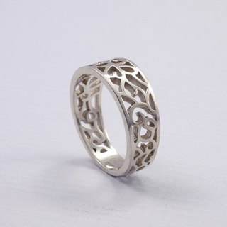 Vines - Hollow Ring Classical Pattern- Sterling Silver