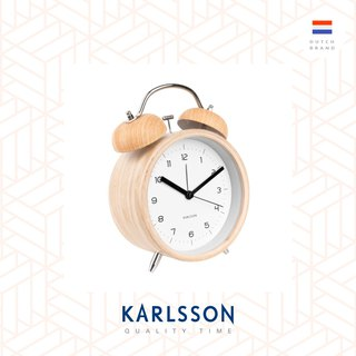 Karlsson, 經典打鈴鬧鐘大, 黑色配金色配件Big Alarm clock Classic Bell black w. gold parts