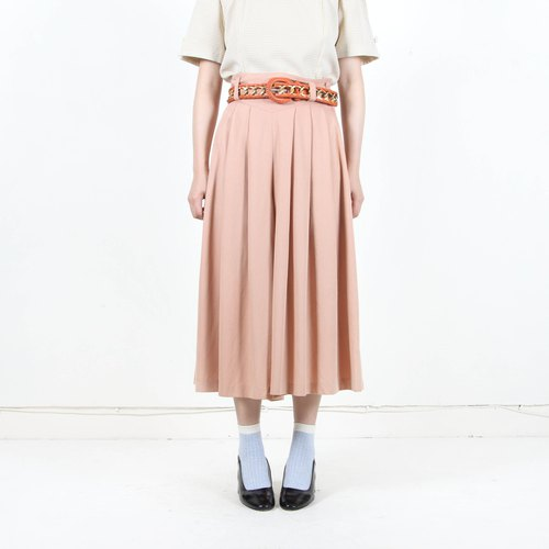 [Eggs and plants] vintage spring solid color wide leg pants skirt