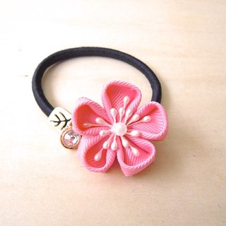 RARAPUPU ribbon flowers hair ring pink