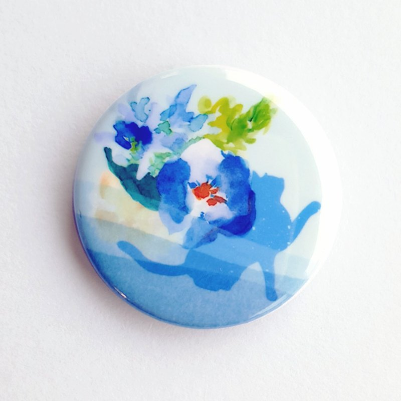 Secret Garden badge pin 恬静蓝