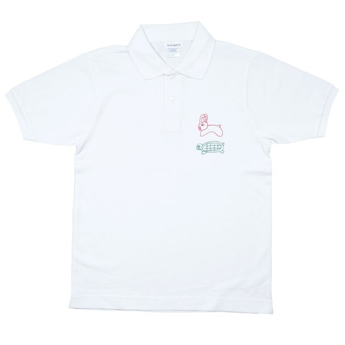 usagi to kame polo shirt -Rabbit and turtle Polo-