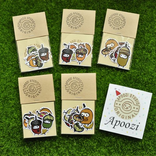 Cloth Seeds - Acorns Illustration Stickers