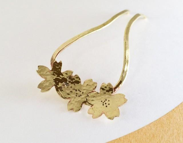 Sakura ◇ Brass forged kanzashi
