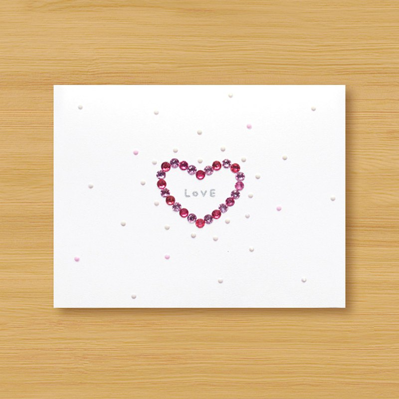 Hand-applied three-dimensional card _ LOVE Fen Fen love small universe - powder ..... Valentine card