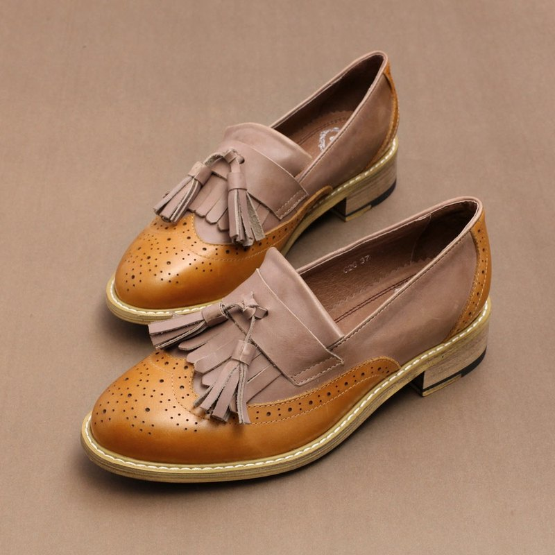 e cho neutral retro Sule Lo shoes ec26 brown ash stitching