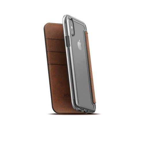 US NOMADxHORWEEN iPhone X Transparent Cover Leather Side Lift Case (855848007144)