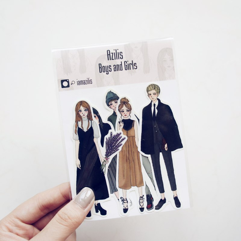 ◆ Boys and Girls ◆ 5 into sticker set