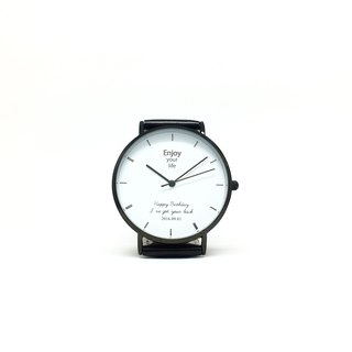 Customized Watch - Simple black frame