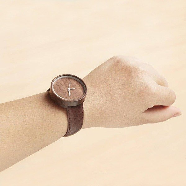 Wood Collection | Minimalist Handmade Watch Made of Wood – Walnut