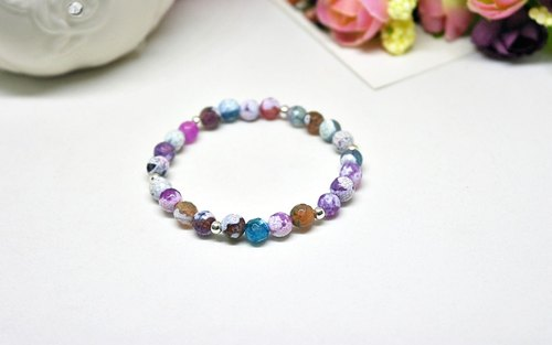 Painted Beads VS Silver Beads - Purple Series -