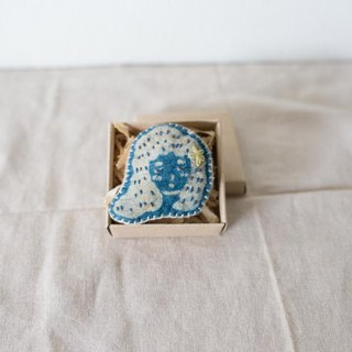 Katazome Hemp Brooch