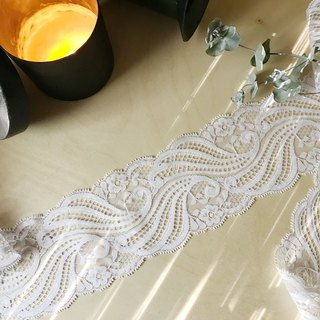 Early Lace Ribbon - Waves & Florets / Handmade Materials