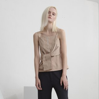 SS18 Camel Knotted Strapless Top - Hong Kong Original Brand Lapeewee