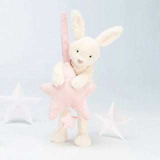 Jellycat Musical Pull Star Pink Bunny