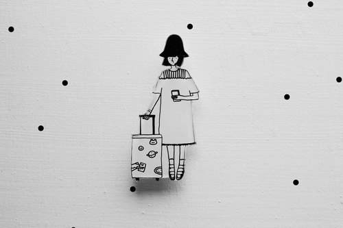Miss Hairy Collection / Black and White Brooch / #018