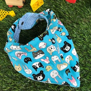 Fashion scarf*cute meow*three-dimensional triangle bib