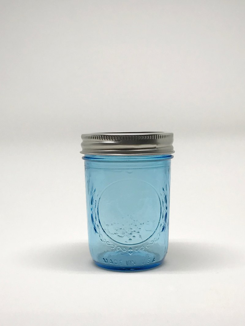 Ball Mason Jars - Ball Mason Jar 8oz Blue Narrow Cans