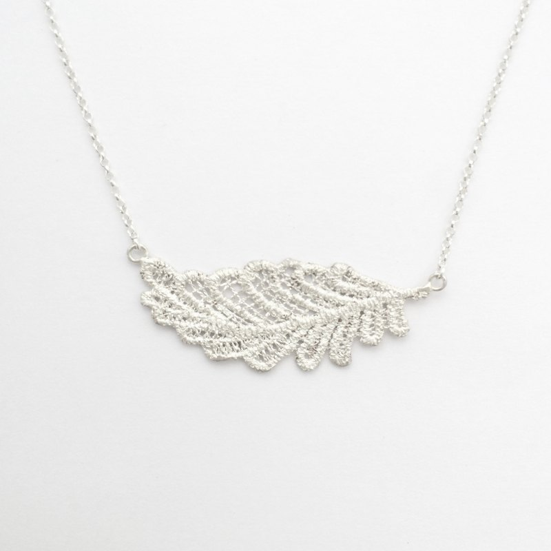 Lace Series - Feather Sterling Silver Necklace