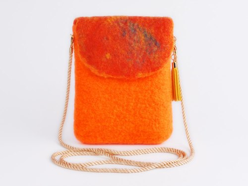 Vivid small pochette [Orange] Vivid small pochette [vivid orange]