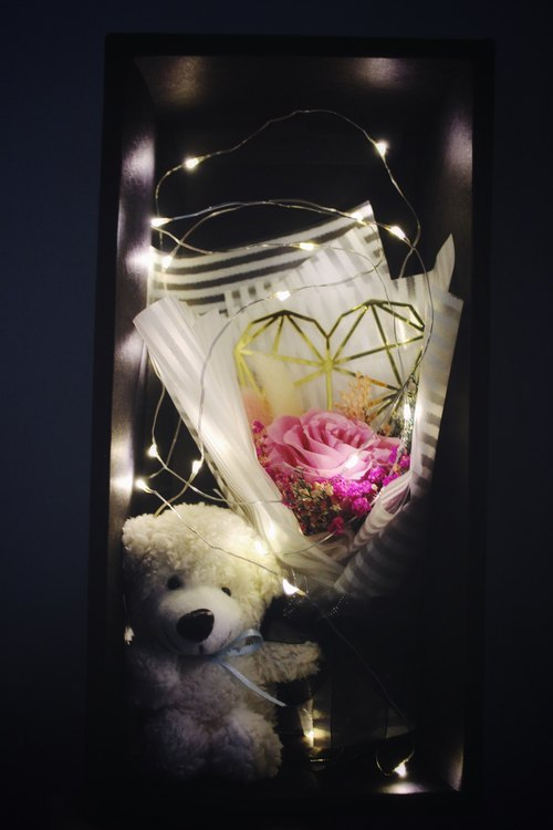 Tanabata / Valentine's Day / limited gift box / no rose / dry bouquet / string / bear