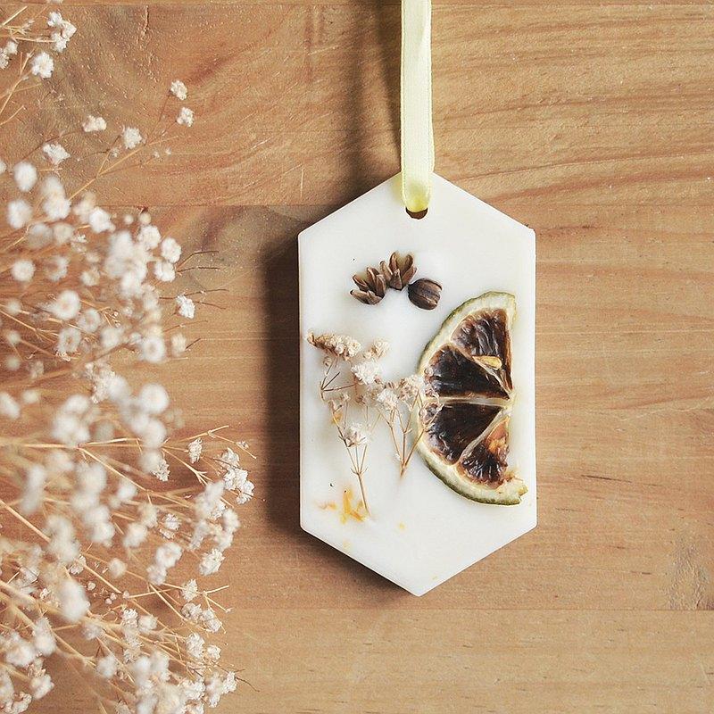 蕾夢園 凝香蠟片- 擴香, 義式檸檬與橙花, 六角形香磚