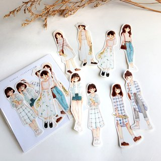 Pastel Fashion Sticker Pack 8pcs