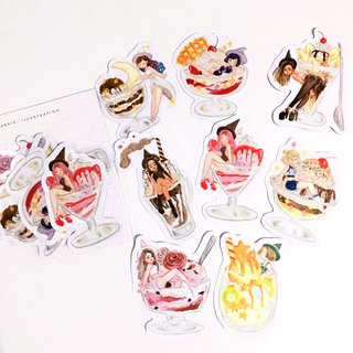 Witch's Sundae Sticker Pack 8pcs