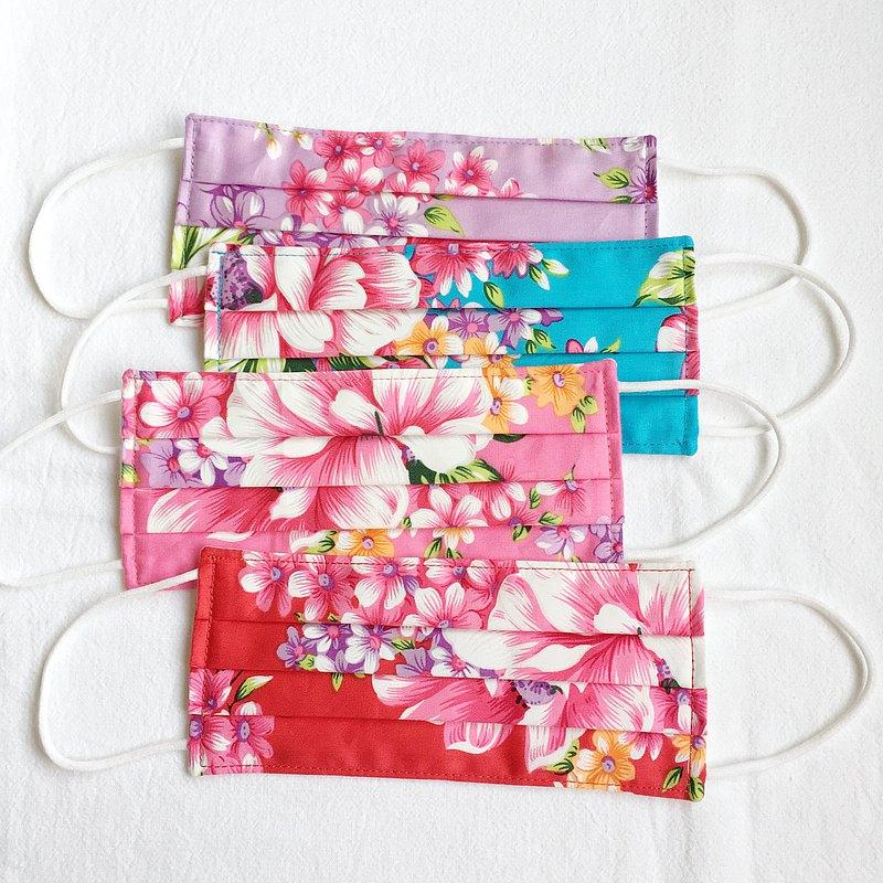 台灣花布 傳統 立體布口罩 可洗滌 純棉節紗布 純棉二重紗 成人