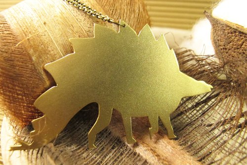 [Dinosaur friends - Big Stegosaurus necklace]
