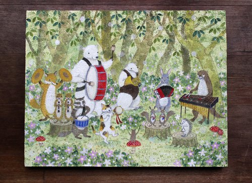 "Painting Art ""forest orchestra"""