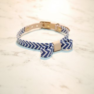 First exposure custom dog collar summer style blue stripes adjustable 啾啾