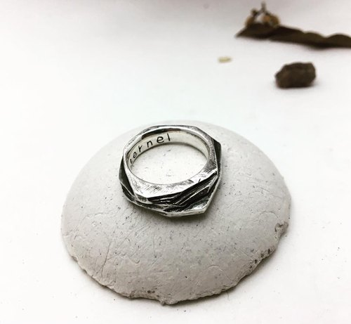 Slate Ring / Silver925 / Silver / irregular / geometric / hand ring / Ring