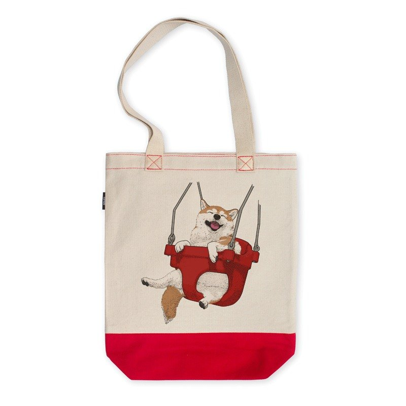 AMO®Original  Hit Color Shoulder Tote Bags/AKE/Red-off White