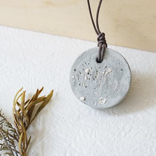 Cement with natural sand & stone necklace - UPCYCLING, Eco