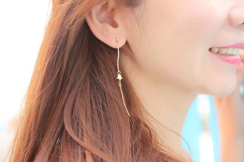 Meteor Declaration 14k Gold Earrings