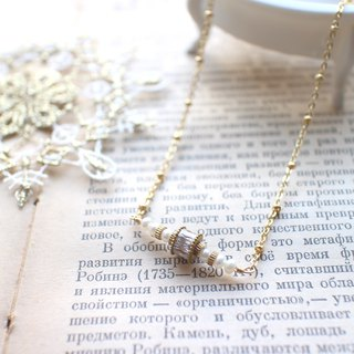 Love letter-Pearl zircon necklace