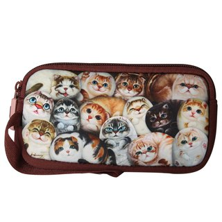 [Henry House Family] Diving cloth mobile phone sets - Hundred Cats