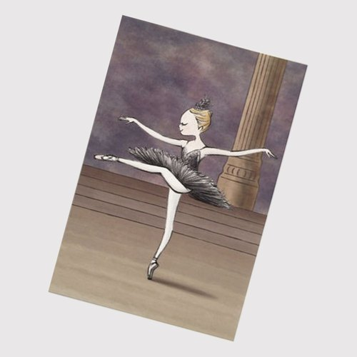 Swan Lake - Black Swan Princess Ballet Postcard